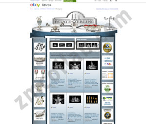 ZMCollab ebay, amazon, shopify, wordpress, bigcommerce store design and product listing templates ESTATE STERLING