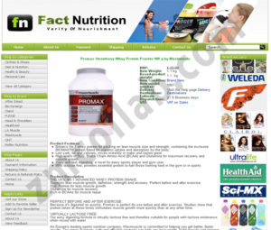 ZMCollab ebay, amazon, shopify, wordpress, bigcommerce store design and product listing templates Fact Nutrition