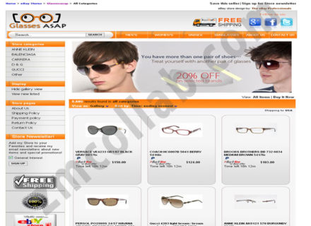 ZMCollab ebay, amazon, shopify, wordpress, bigcommerce store design and product listing templates Glasses ASAP