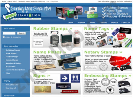ZMCollab ebay, amazon, shopify, wordpress, bigcommerce store design and product listing templates Holmes Stamp