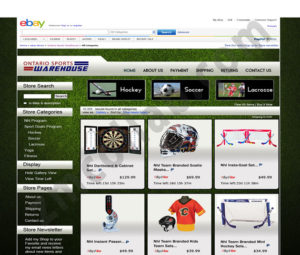 ZMCollab ebay, amazon, shopify, wordpress, bigcommerce store design and product listing templates Ontario Sports Warehouse