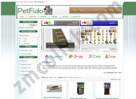 ZMCollab ebay, amazon, shopify, wordpress, bigcommerce store design and product listing templates Petfido