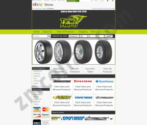 ZMCollab ebay, amazon, shopify, wordpress, bigcommerce store design and product listing templates Tire Hero