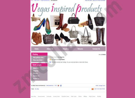 ZMCollab ebay, amazon, shopify, wordpress, bigcommerce store design and product listing templates Vegas Inspired Products
